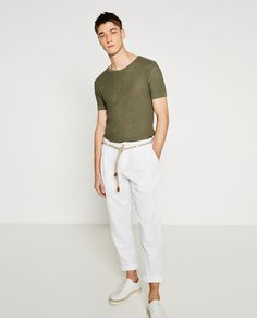 Mens Fashion Style – The World of Mens Fashion Zara New, Men's Wardrobe, Piece Of Clothing, Go Shopping, White Jeans, Style Inspiration, Style Ideas, Trousers, Normcore