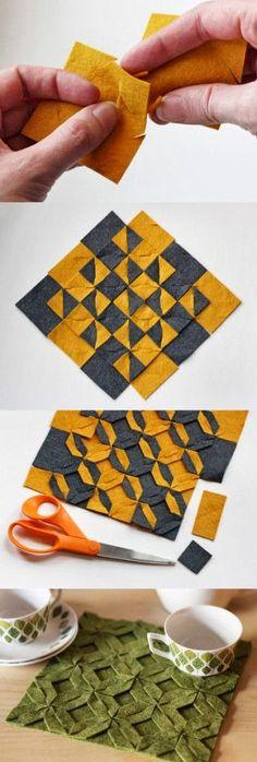 DIY Modular Felt Trivet. For more creative inspiration go to www.canberracreatives.com.au