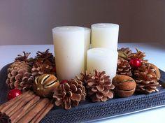 Adventskranz zum Selberbasteln | Christmas And New Year, Christmas Crafts, Xmas, Christmas Stuff, Christmas Ideas, Winter Centerpieces, Advent Wreath, Pillar Candles, Wreaths