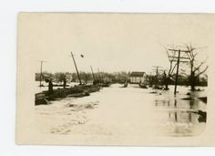 West Liberty 1913 Flooded Traction Line Postcard :: Logan County Digital Collection West Liberty, Logan, Ohio, Digital, Outdoor, Collection, Outdoors, Columbus Ohio, Outdoor Games
