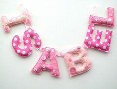 Name garland Isabel by Heartfelt Handmade | very pink and do… | heartfelthandmade | Flickr