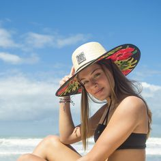 Chapéu de Palha Floral Hibisco o campeão de vendas! Maravilhoso!  chapeu   chapeudepalha 5e6bb6f1d68