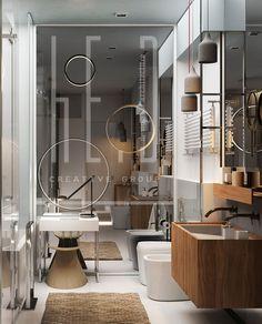 Minimalism. Bathroom. Interior design for apartment in Kiev.  #bath #minimalism #interiordesign