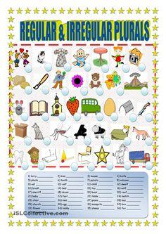 Regular and irregular plurals