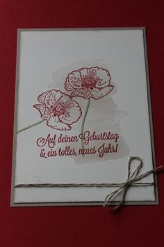Stampin Up! Geburtstag, Happy Birthday, Happy Watercolor, Dein Tag!
