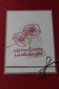 Stampin Up! Geburtstag, Happy Birthday, Happy Watercolor, Dein Tag!