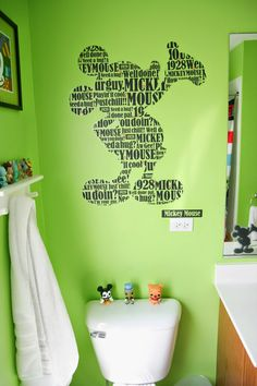 Creative Ways You Can Improve Your Mickey Mouse Bathroom: Mickey Mouse Bathroom Ideas, Mickey Mouse Bathroom Collection, Mickey Mouse Bathroom Accessories, Mick. Mickey Mouse Bathroom, Mickey Mouse House, Casa Disney, Disney Dream, Mickey Mouse Decorations, Bathroom Kids, Bathroom Black, Bathrooms, Bathroom Faucets