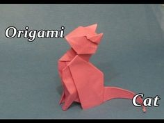 How to Easily Make Cat Origami - Origami Art - YouTube