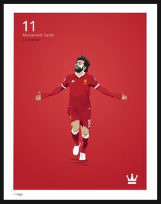 A hand and digitally drawn image of Mo Salah, Liverpool FC. Part of the Premier League icons print Collection Printed on high quality 210 gsm silk, perfect for posters. Available in 3 sizes: Liverpool Champions, Fc Liverpool, Liverpool Football Club, Liverpool Fc Wallpaper, Liverpool Wallpapers, Premier League, Sadio Mane, Mohamed Salah Liverpool, This Is Anfield