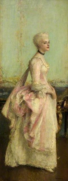 Portrait of a lady by Pascal Adolphe Jean Dagnan-Bouveret