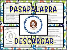 "Gracias a la Burbuja del lenguaje os dejamos estos ""pasapalabra"" (alumnado de 2º a 6º de Educación Primaria). Se ha ayudado del libro ""Mi primer Diccionario"" de la editorial SM, … Spanish Classroom Activities, Teaching Spanish, Learning Resources, Teacher Resources, Primary Games, Education Grants, Higher Education, Kids English, English Games"