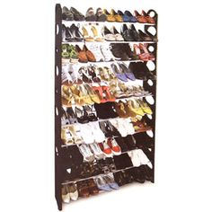 50-Pair Shoe Rack - Black 29.99
