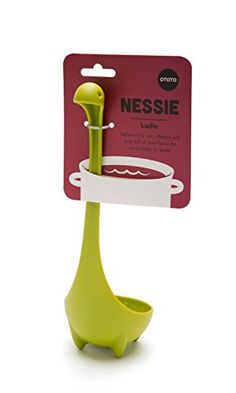 The Nessie Ladle is a kitchen ladle that is made to look like the Loch Ness Monster, and is a far superior and more adorable version of your current ladle which is quite unsightly and grotesque. Plus ...