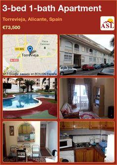 3-bed 1-bath Apartment in Torrevieja, Alicante, Spain ►€73,500 #PropertyForSaleInSpain