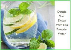 Mint, lemon, cucumber, and ginger. This combo fires up your metabolism, fires out antioxidants to clear excess waste, and is loaded with antinflammatories! Detox Drinks, Smoothie Drinks, Healthy Drinks, Healthy Water, Healthy Snacks, Healthy Eating, Smoothies, Clean Eating, Mint Water