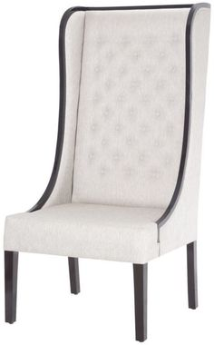 Kinge Chair in Black Stain with Natural Linen