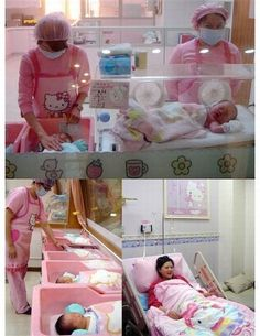 Only in Japan do they have Hello Kitty delivery rooms. Brilliant ... if you're having a girl, otherwise ... awkward ... http://media-cache7.pinterest.com/upload/46302702388382555_HYA410NF_f.jpg lizz_m things i heart