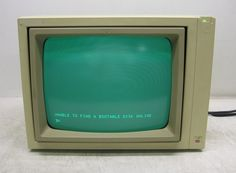 Vintage Apple Computer A2M2010 Green Phosphor Monitor | eBay