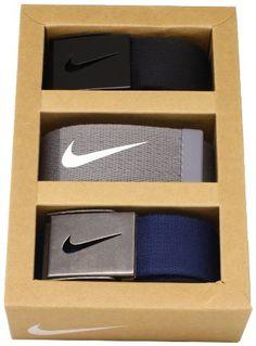 Nike Golf Mens Tech Essentials 3 Pack Belt Gift Set