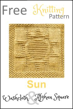 Knitted Dishcloth Patterns Free, Knitting Squares, Knitted Washcloths, Knit Dishcloth, Knitted Blankets, Baby Knitting Patterns, Baby Patterns, Knitting For Beginners, Easy Knitting
