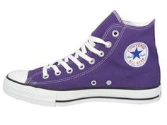 - Converse Womens Shoes All Star High Top Purple OOOOOOH MAN! The amazingly best shoe, in the amazingly best color! Blue Converse High Tops, Converse Chuck Taylor, Converse Wedding Shoes, Purple Converse, Blue Wedding Shoes, Converse Shoes, Custom Converse, Converse Logo, Girls Shoes