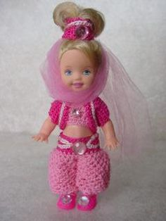Costume Crochet Clothes Patterns for Kelly Doll - Crochet Crafts by Helga