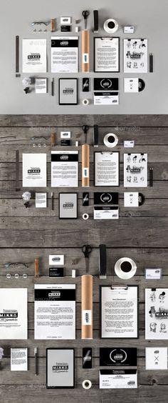 Stationery /Branding Mockups   #stationerymockup #brandingmockup   Download: http://graphicriver.net/item/stationery-branding-mockups/10438977?ref=ksioks
