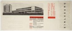 Einladung Bauhaus Dessau  - Herbert Bayer (American, born Austria. 1900-1985)