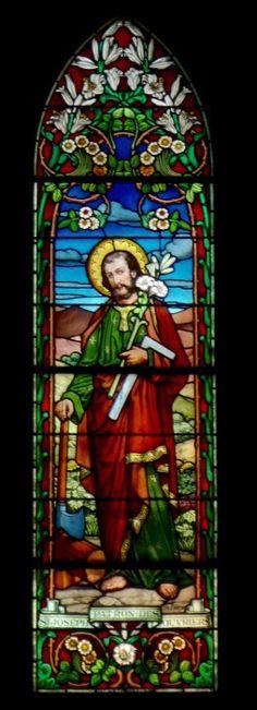 Eglise saint laurent paris vitrail de la visitation for Andrieux la maison du vitrail