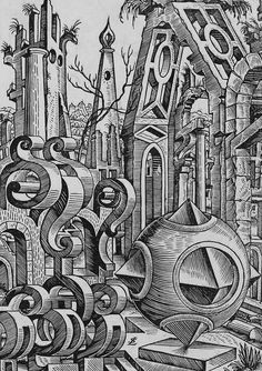 Lorenz Stoer - from 'Geometrische Körper und Architekturbauteile' (Geometric Shapes and Architectural Components), published in 1567