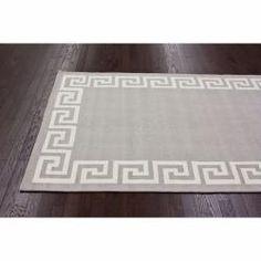 Handmade Luna Greek Key Wool Rug (5' x 8')