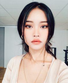 Asian Makeup Looks, Korean Natural Makeup, Korean Makeup Look, Asian Eye Makeup, Natural Makeup Looks, Skin Makeup, Beauty Makeup, Hair Beauty, Cute Makeup