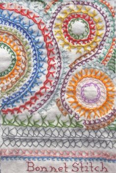 I ❤ embroidery . . . Tast Bonnet Stitch- ~By Maya Matthew