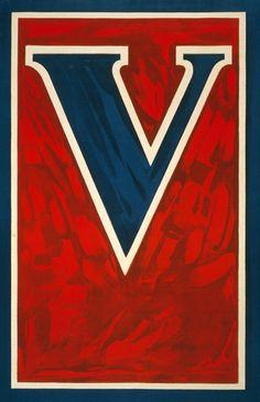 V for Victory - Vintage Poster