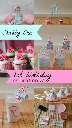 Shabby Chic First Birthday Party Ideas...looks a lot like my sister's shower theme though!