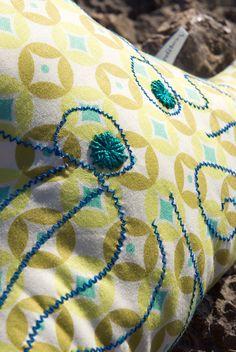 Embroidered Squid Pillow For Kids Von Blanditos Auf Etsy, U20ac35.90