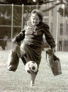 Bieber, Tim - Old Woman Kicking Soccer Ball