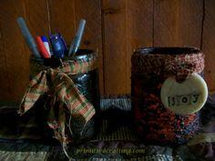 Jar Craft! Upcycling Jars into Country Primitive Decor!