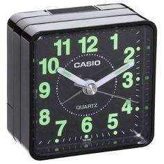 Casio TQ140-1 Travel Quartz Beep Alarm Clock (Black) - Genuine Brand New