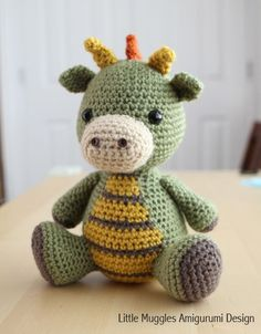 Spike the Dragon amigurumi pattern by Little Muggles