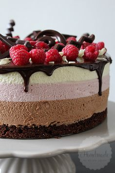 Chocolade frambozen mousse taart – HandmadeHelen