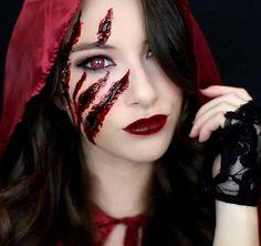 Red Riding Hood Halloween makeup @kellynelsonyt