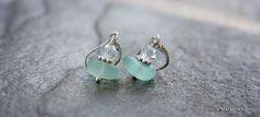 Sea+glass+earrings+sea+foam+green+sea+glass+by+HollyMackDesigns,+$36.00