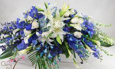 Blue Casket Cover   Sympathy   Cherry Blossoms Florist