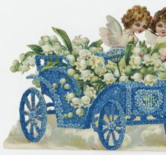 Cherubs in a car, front and open views :: Archives & Special Collections Digital Images :: 1910