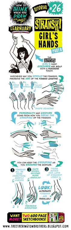 Today's tutorial for #LEARNUARY is How to THINK When You Draw STRANSKI GIRL'S HANDS part ONE! And don't forget - we're REPRINTING the Art...