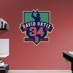 Boston Red Sox David Ortiz Final Season Wall Decal by Fathead, Multicolor