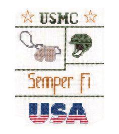Candamar-Marine Sampler Mini Counted Cross Stitch Kit-5 X7 14 Count