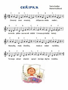 Chřipka Aa School, School Clubs, Health Activities, Activities For Kids, Kids Songs, Human Body, Sheet Music, Montessori, Musica