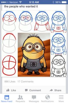 How to draw a minion.